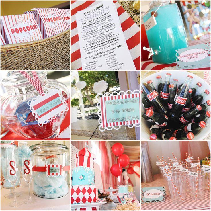 Adorable carnival wedding!!