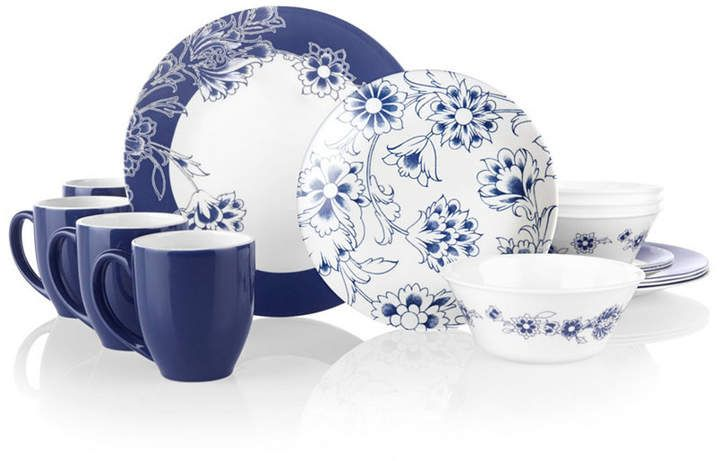 Corelle Boutique Indigo Blooms 16 Pc Dinnerware Set Reviews