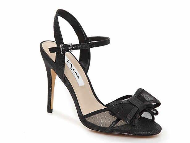 DSW | Bow sandals, Black dress sandals