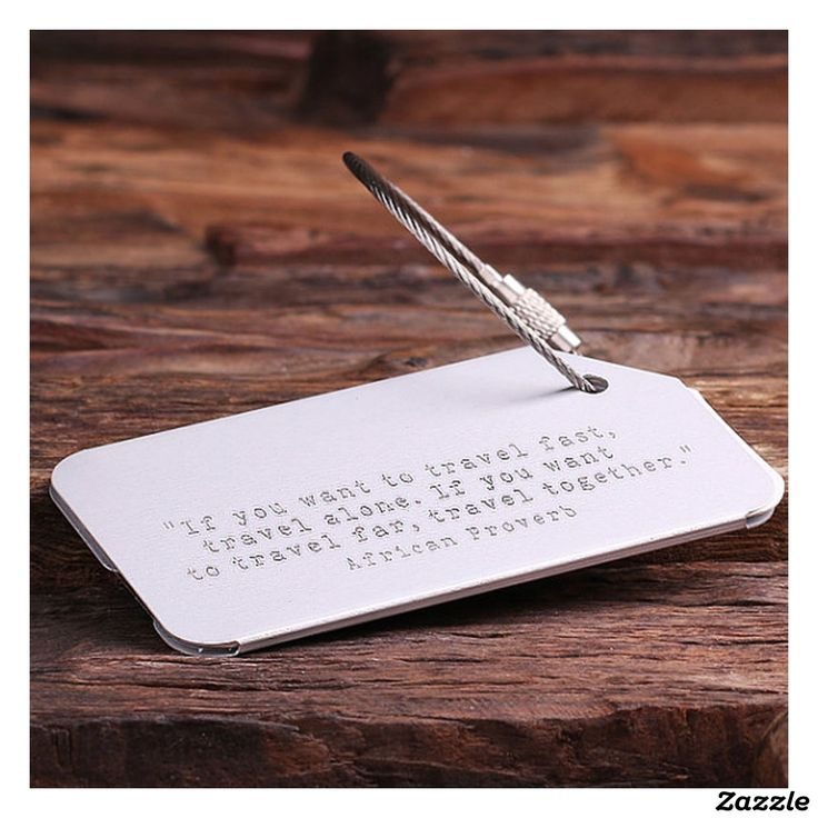 Personalized Luggage & Travel Tag - Silver