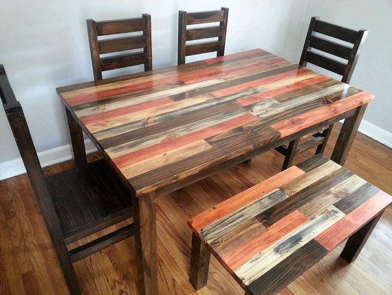 Rustic Dining Room Set / Rustic Dining Set / Rustic Kitchen Set