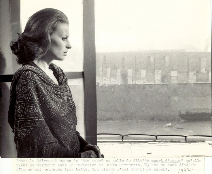 Silvana Mangano in D'amore si muore directed by Carlo Carunchio, 1972