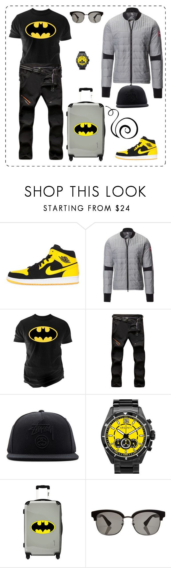 """""""Без названия #146"""" by uleetka ❤ liked on Polyvore featuring NIKE, Canada Goose, Changes, Stussy, Argenti, IKASE, Gucci, men's fashion and menswear"""