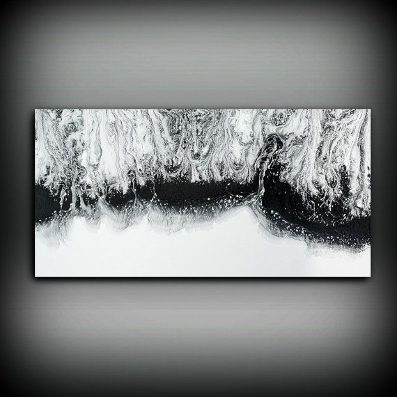 This is a FINE ART GICLEE PRINT  Title: Stormy Collection  #PRT1053  Shades of Black, Gray, and White  Each piece is signed and dated by the artist