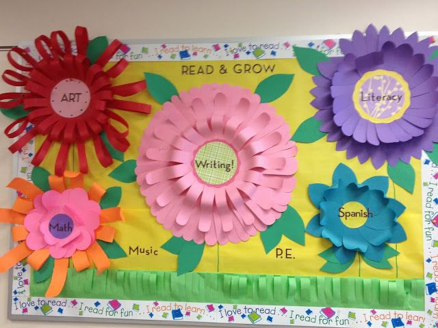 Here is a cute example of a 3D bulletin board I made for Spring.