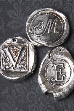 BeSealed Silver Pendents Created by Victoria Blinkhorn
