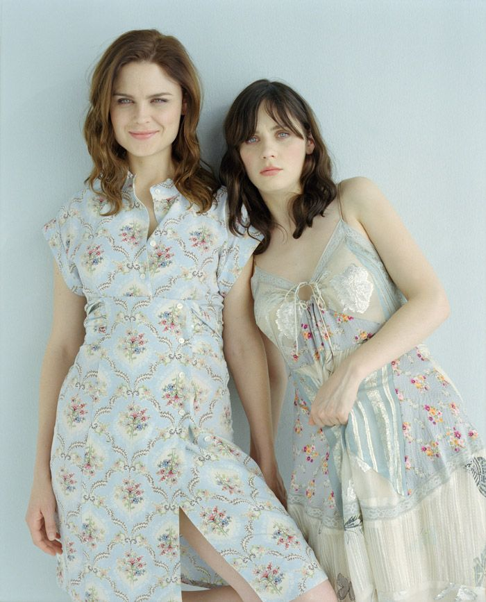 Emily Deschanel and Zooey Deschanel by Viki Forshee