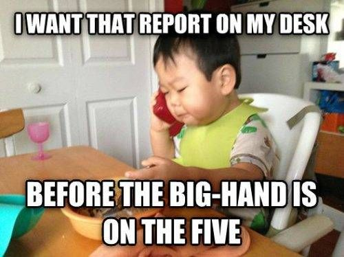 Funny Business Baby Meme