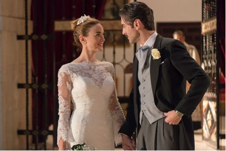 Vestido de novia realizado en los talleres de Eva Novias para la serie Velvet de Antena 3.