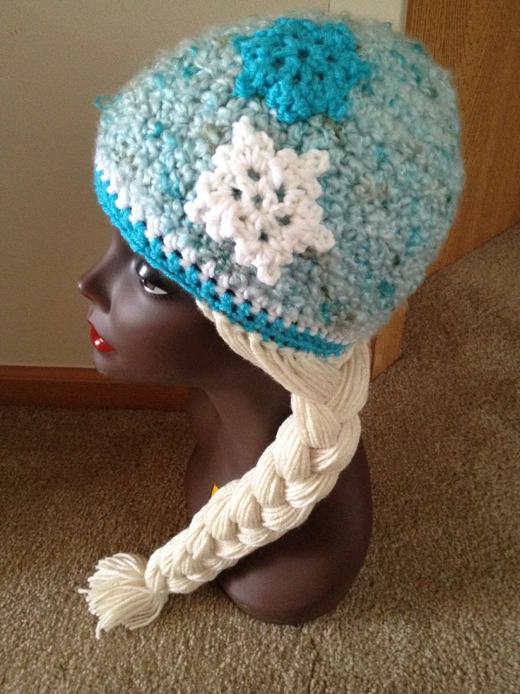 Crochet Elsa Hair Hat : Frozen Elsa inspired crochet hat Crochet Inspiration Pinterest ...