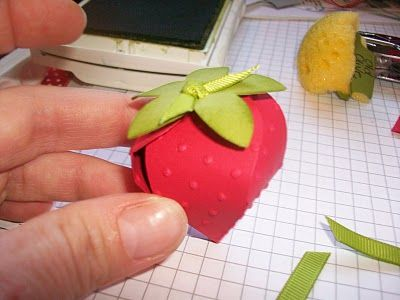 Just Julie B's Stampin' Space: Strawberry Tutorial for Big Shots!