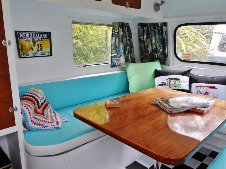 Pearl - 1967 Jackson lovingly restored retro caravan at Kissing Gate glamping site, Mapua, Nelson, New Zealand