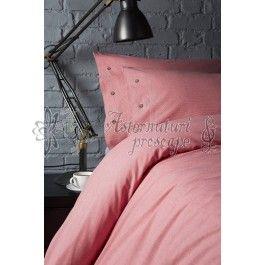 Behrens Red Check - lenjerie de pat de lux 2 persoane