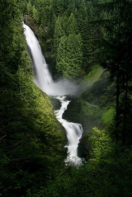 Wallace Falls - A short drive N.E. of Seattle, on Hwy. 2 (Stevens Pass), is Wallace falls, great hiking trail to this falls.