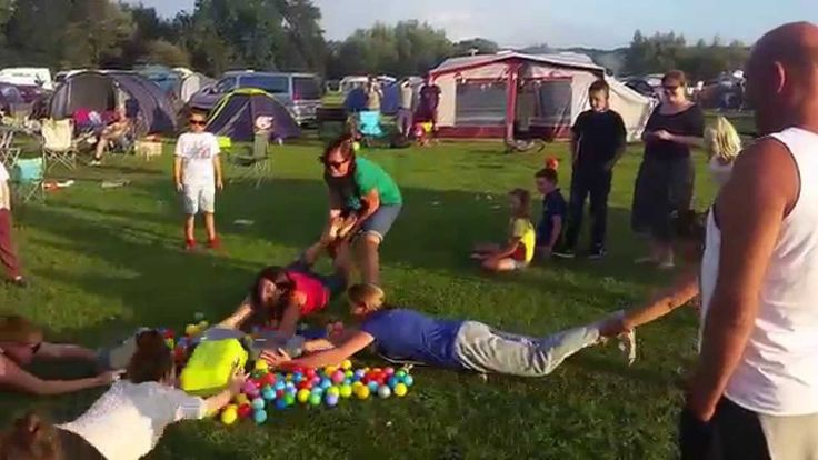 Human Hungry Hungry Hippos at Park Farm Campsite Bodiam 2015