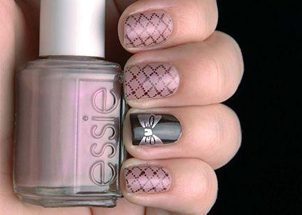 Рисунки на ногтях Бантики фото