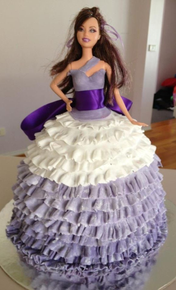 Best Princes Images On Pinterest Barbie Cake Doll Cakes And - Birthday cake doll princess