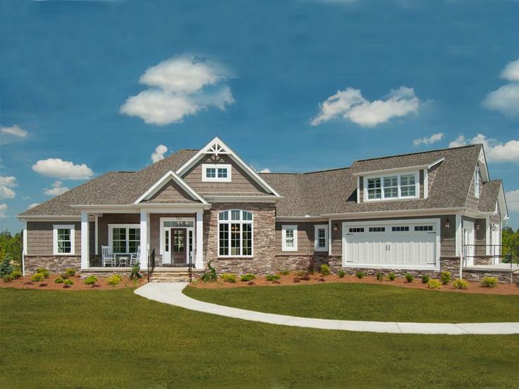 One story brick home floor plans for Large one story homes