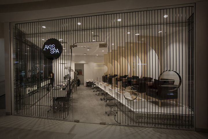 Akis spa by studio mkz sydney australia store design for Sydney salon