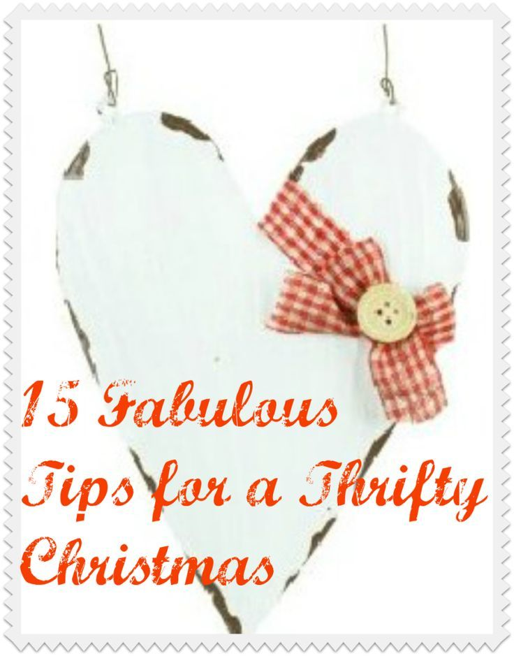 15 fabulous tips for a thrifty Christmas. You can have a frugal Christmas with a bit of creativity and thinking outside the box. I do hope these tips help!