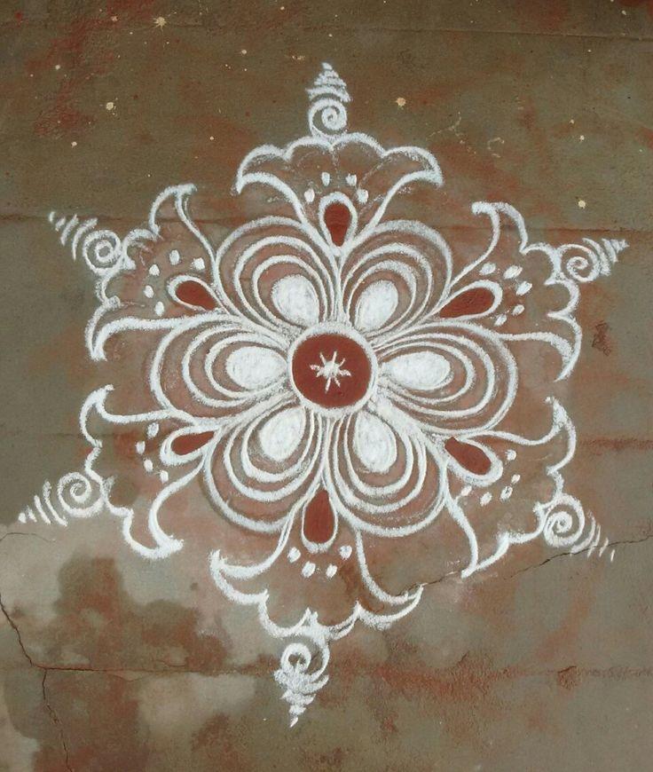 The 25 best rangoli patterns trending ideas on pinterest for Home made rangoli designs