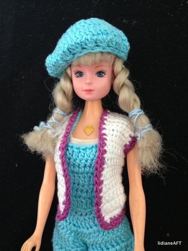 Croche /Boina de croche para barbie - LiiArt
