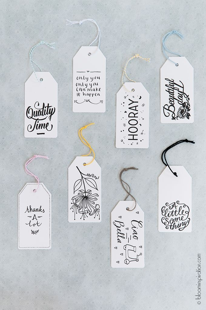 mahalolena | 9 Handwritten Gifttags by Happy Makers Blog | http://mahalolena.com