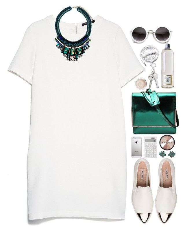 """""""the emerald city"""" by jennk-995 ❤ liked on Polyvore featuring MANGO, Nocturne, Miu Miu, DAMIR DOMA, Muji, Dr. Vranjes, Nak Armstrong, Dr. Sebagh, Urbanears and Smashbox"""