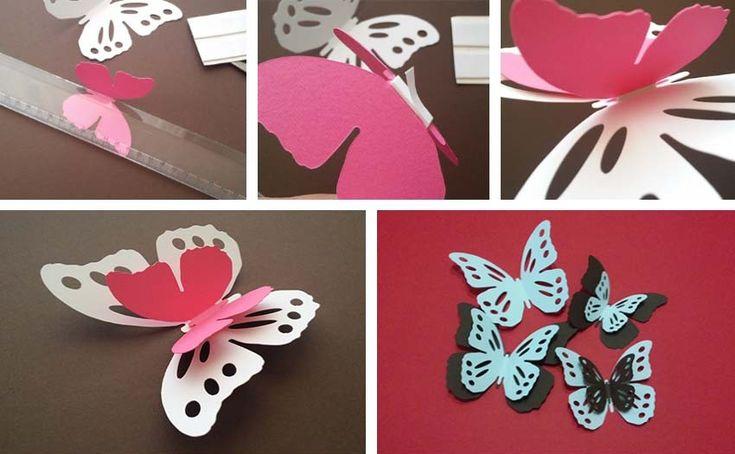 3D pillangók faldekor - falmatrica