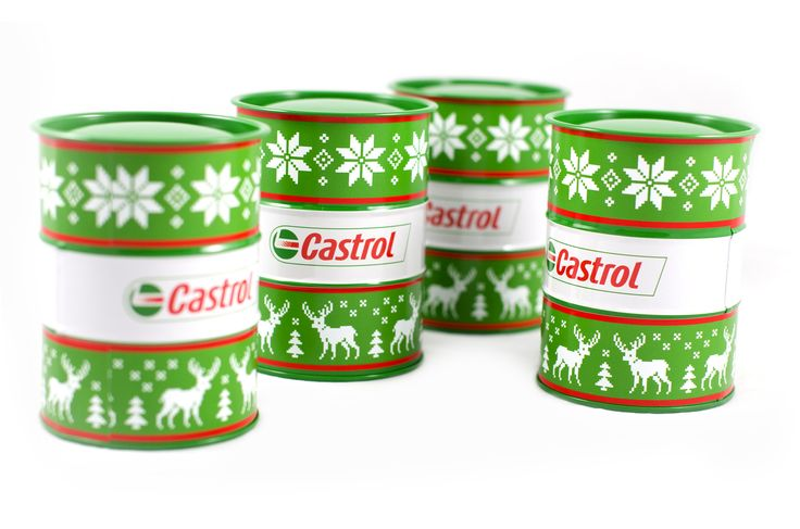 "Client: Castrol. PF 2015 - New year´s ""barrel"" with sweet surprise inside. #aircreative #advertisingagency #advertising #pf #pf2015 #newyear #barrel #sweet #surprise #castrol"