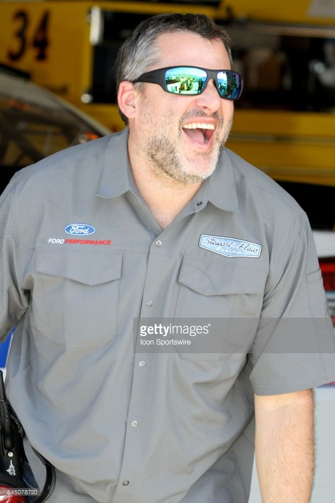 Car owner Tony Stewart in the garage during practice for the NASCAR Monster Energy Cup Series Daytona 500 on February 24, 2017, at the Daytona International Speedway in Daytona, FL.