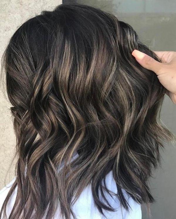 Beautiful As Well As Pretty Ash Blonde Highlights On Dark Hair