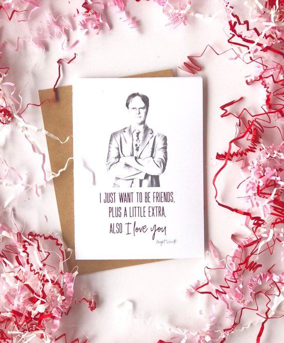 The Office Card Dwight Schrute Dunder Mufflin Love Valentines Day