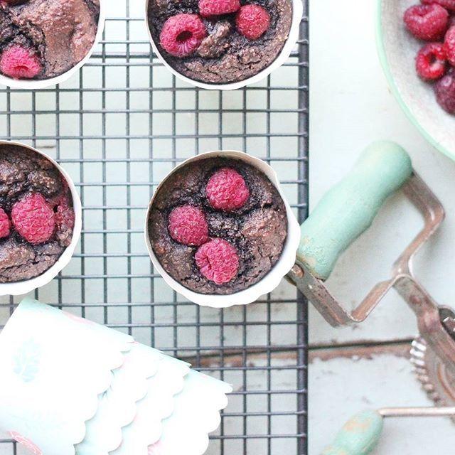 Paleo Chocolate Raspberry Muffins