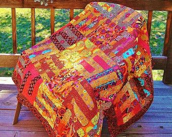 PURPLE MAZE      Kaffe Fassett Inspired Quilt in Purples