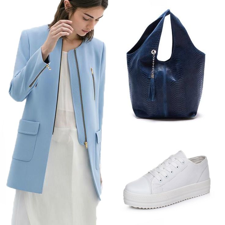 #OOTD: This fall, be royal with this blue #LuisaVannini leather bag.