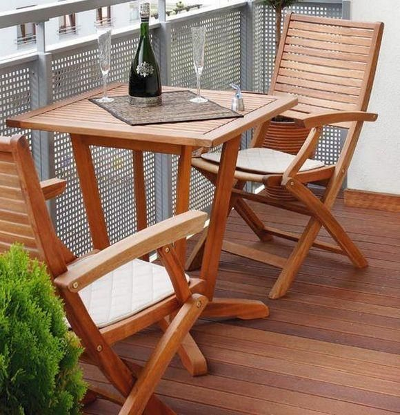 outdoor furniture small balcony. small balcony ideas wood folding furniture table trees in pots outdoor