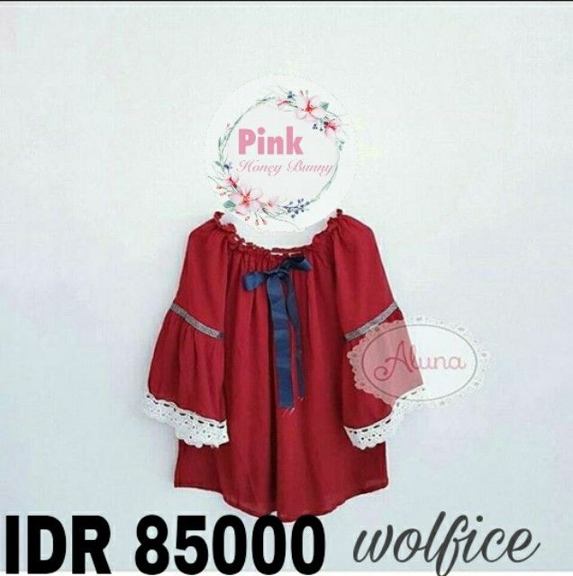 Cloudy top red IDR 85000