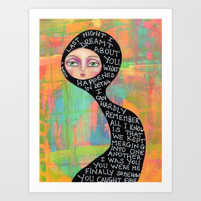 Last night I dreamt about you Art Print by denthe - $18.00