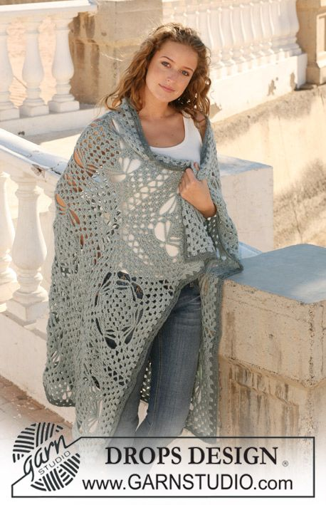 """DROPS blanket in crochet squares in 3 threads """"Alpaca"""". wowee, this is lovely: thanks so for share xox"""