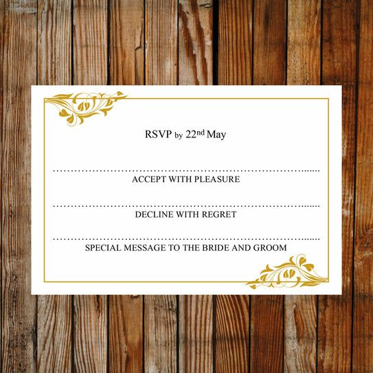 55 best images about Printable wedding RSVP and Enclosure Card – Free Rsvp Card Template
