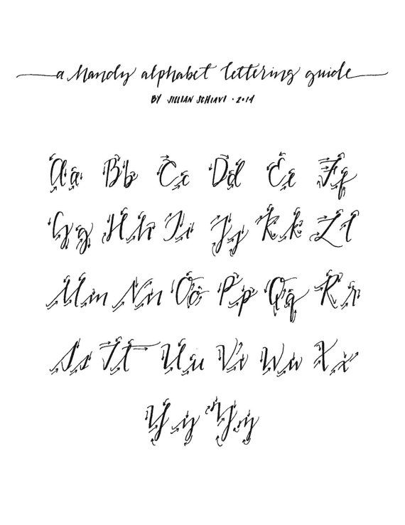 Hand Lettering Alphabet Guide Traceable Download 8