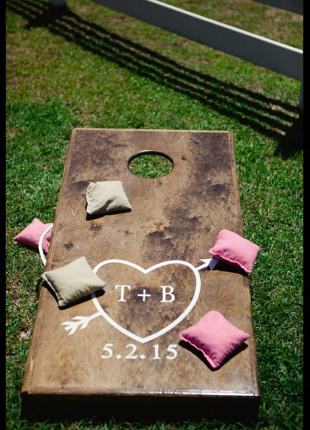 Wedding corn hole boards : Expressions by Brandy