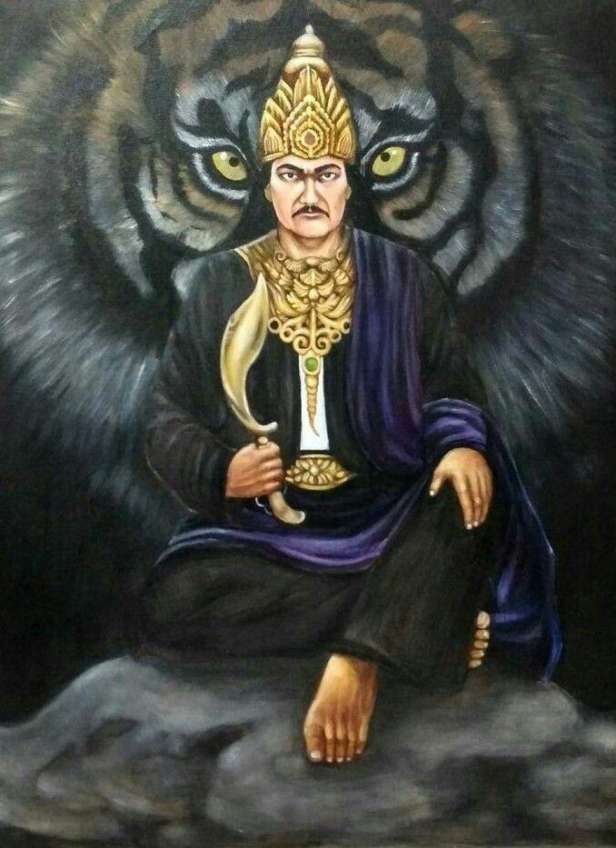 Spiritual Lukisan Traditional Prabu Siliwangi Kujang