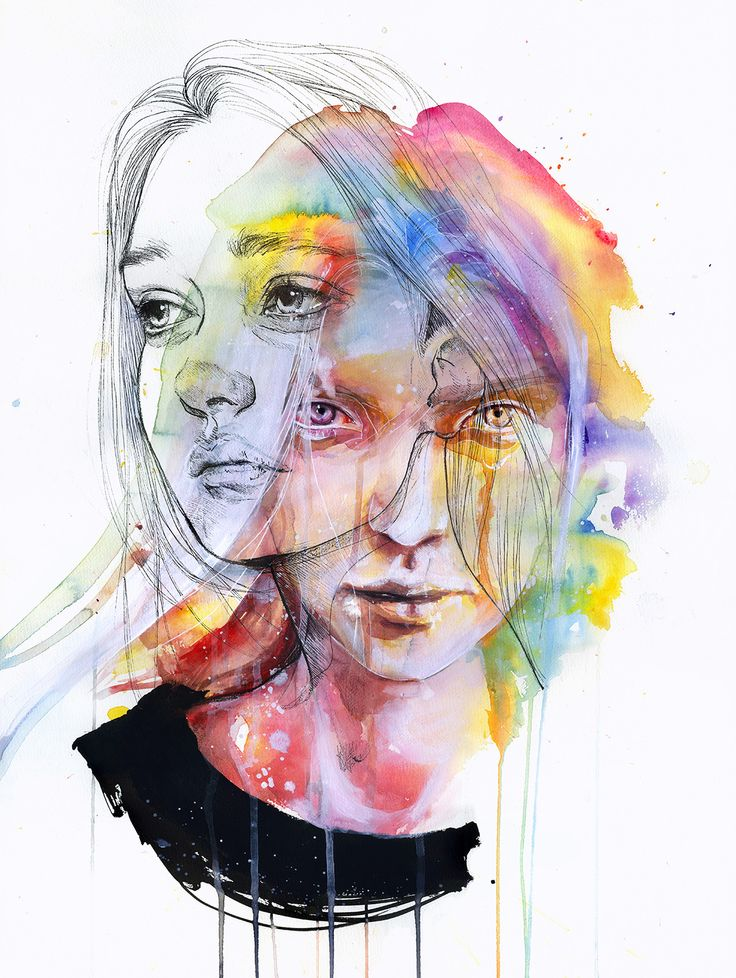 Girls Change Colors by Agnes Cecile - Original Painting available for sale via Eyes On Walls. #agnescecile