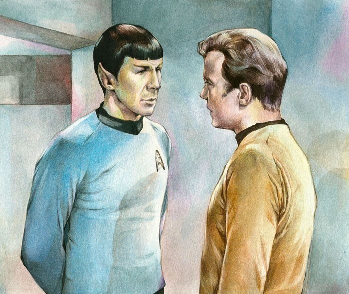 Kirk and Spock, want to paint this in watercolor @Mairead Roberts