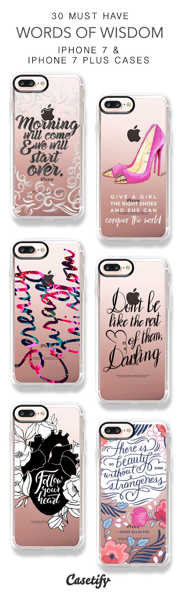 30 Must Have Words Of Wisdom Protective iPhone 7 Cases and iPhone 7 Plus Cases. More Quotes iPhone case here > https://www.casetify.com/collections/top_100_designs#/?vc=Bu1I9KrawJ (scheduled via http://www.tailwindapp.com?utm_source=pinterest&utm_medium=twpin&utm_content=post158229259&utm_campaign=scheduler_attribution)