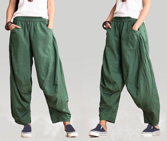 linen pants women/linen pants for women/women's wide-legged pants/green pants/black pants/women linen pants/