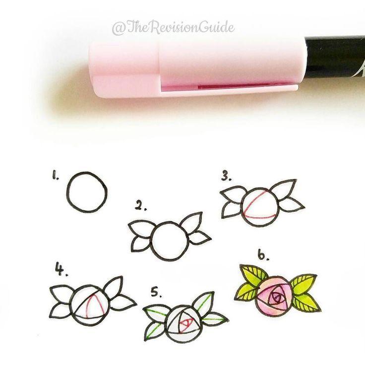 Es gibt ungefähr ein Dutzend verschiedene Möglichkeiten, Rosen zu zeichnen. Ich zeige Ihnen die