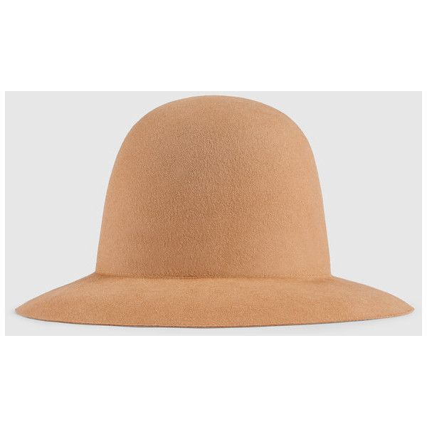 Gucci Wide Brim Hat ($275) ❤ liked on Polyvore featuring accessories, hats, camel, gucci, wide brim hat, camel hats, gucci hat and band hats